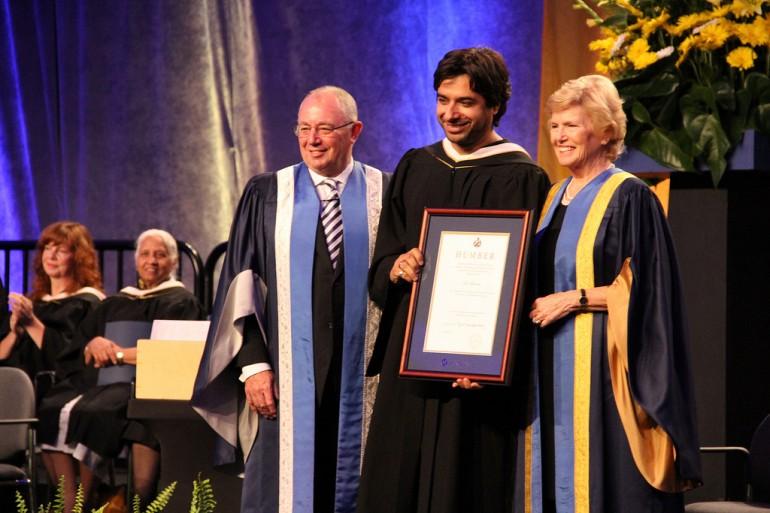 Jian Ghomeshi receiving Humber College Honary Degree