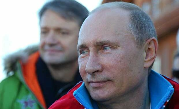 Putin: gay athletes welcome at Sochi, but must 'leave children in peace'