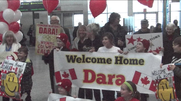 Canadian Olympians arrive home