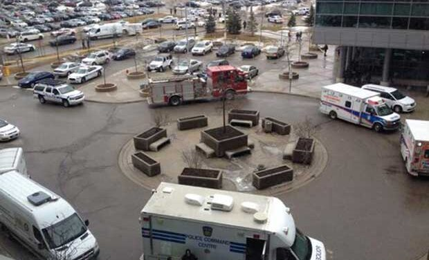 Gunman opens fire at Brampton Courthouse, officer wounded