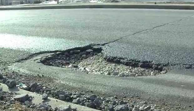 Potholes wreak havoc in Humber College area