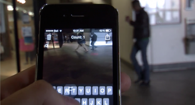 Texting while walking poses danger to students