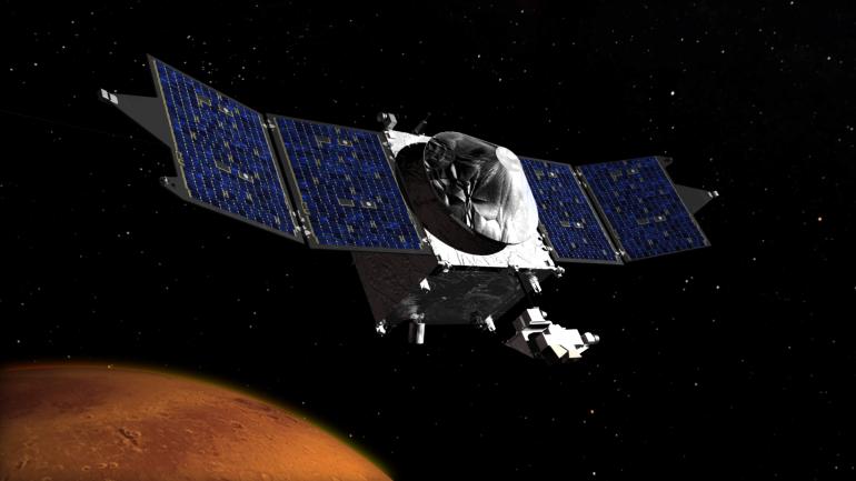 Artist concept of MAVEN mission