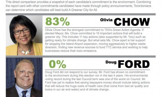 Toronto Environmental Alliance surveys mayoral candidates