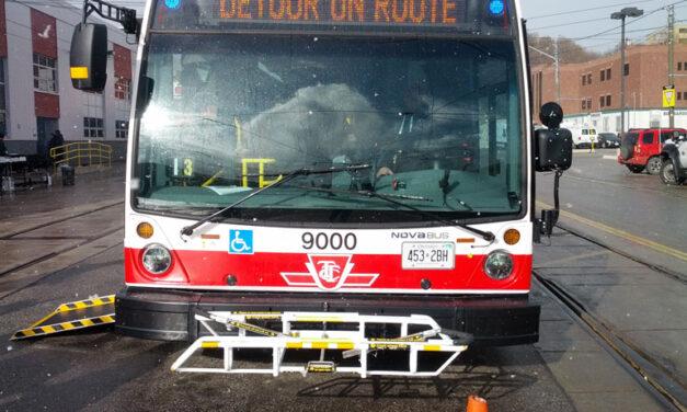 TTC has stopped usage of bike racks on buses