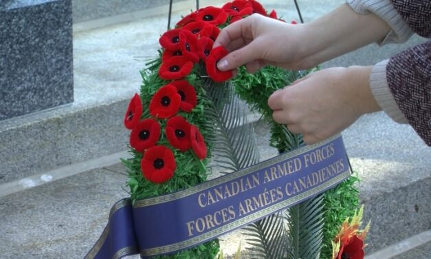 Remembrance Day ceremony honours war hero