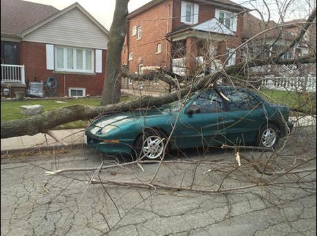 Wind storm hits Ontario