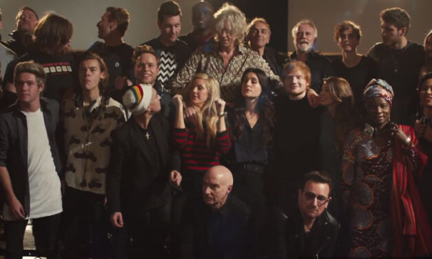 Stars re-create Band Aid hit for a great cause
