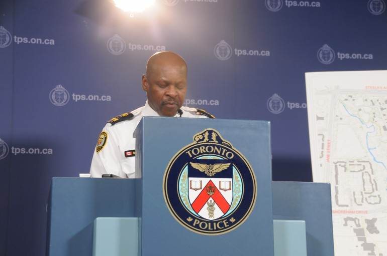 Deputy Chief Mark Saunders speaks at press conference on the tunnel found.