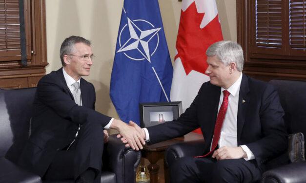 Harper meets with NATO secretary general