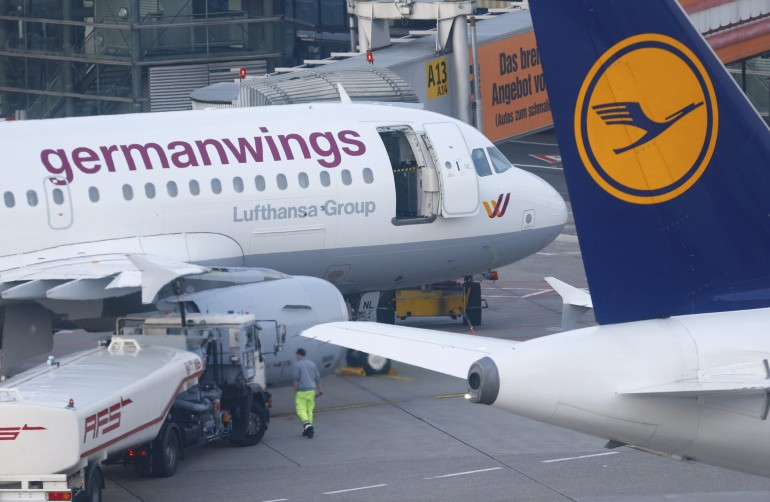 Germanwings Airbus A320 crashed in the French Alps after departing from Barcelona Tuesday morning.