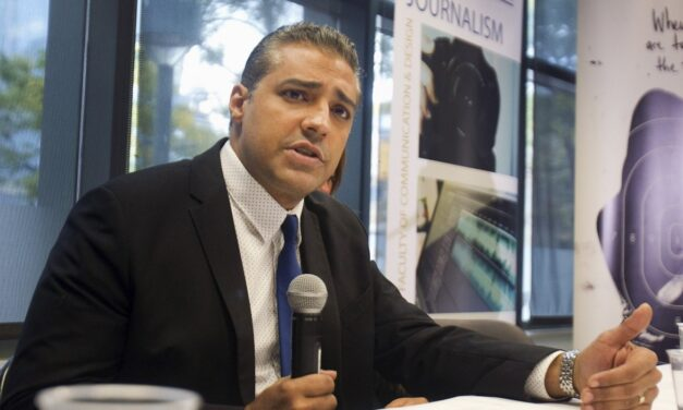 Mohamed Fahmy speaks out against Harper government at CJFE press conference