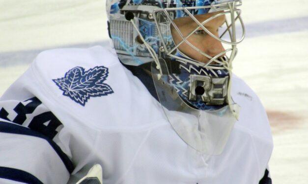 Reimer minding Leafs net for Bernier return