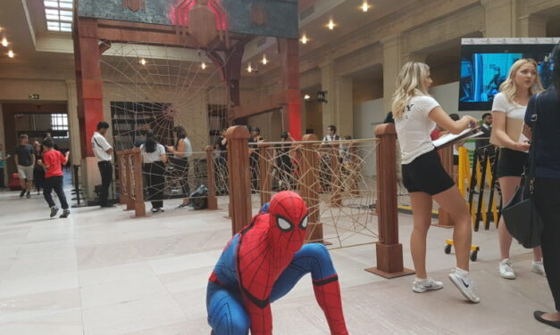 Spider-Man traps visitors at Union Station