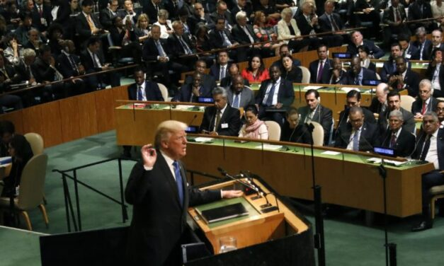 """Trump at UN: US may """"totally destroy North Korea"""" if left with no choice"""