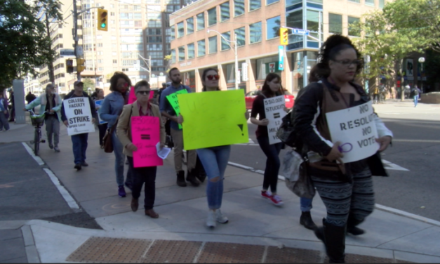 Humber Strike: Students rally in downtown Toronto
