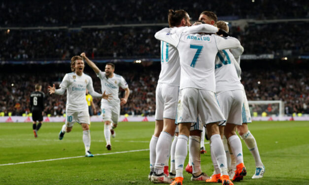 Real Madrid beats PSG in the first leg of the 16 round.