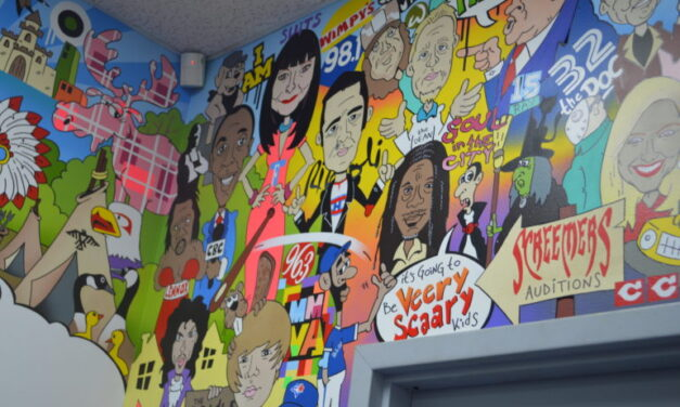 Toronto Celebrities fills mural at Keele Street Monte Carlo Laundromat