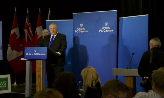 Ford reiterates his promise to cut gas prices by 10 cents at leader's debate