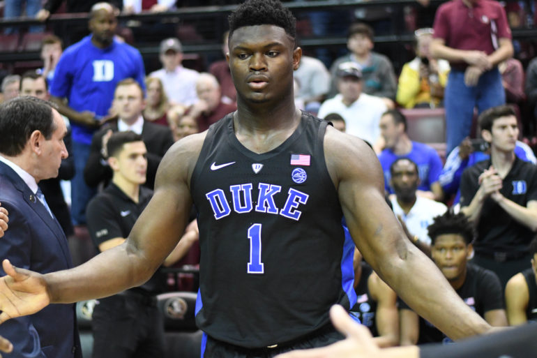 e4f6f578082 Projected NBA first overall pick, Zion Williamson. (flickr/jacobgralton)