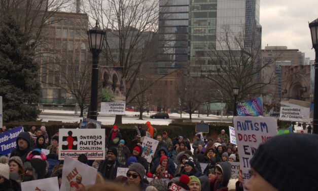 'We're not prepared to wait anymore': protesters return to Queen's Park to condemn cuts to autism funding