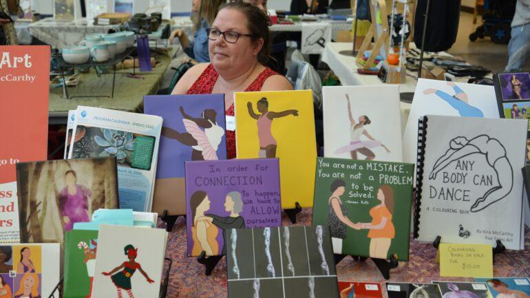 Kira McCath, an artist, showcased her work at the FAC event (Akanksha Lamba)