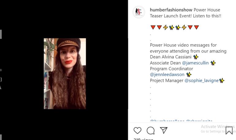 Dawson talks about the upcoming fashion week in an Instagram post. (Akanksha Lamba)