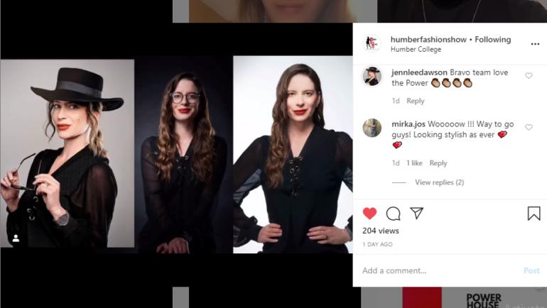 Program Coordinator Jennifer Dawson showcases her runway look during the premiere on Instagram.  (Akanksha Lamba)