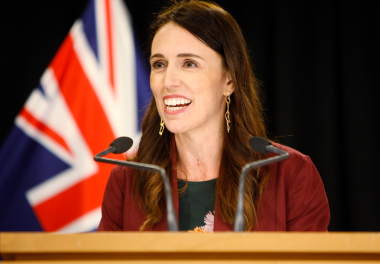 New Zealand's Prime Minister, Jacinda Ardern, happily shares the news of zero COVID-19 cases in the county. Flickr/ Prince Oghenovo.