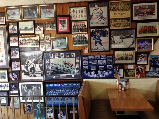 Hockey photos at the Wexford Restaurant Courtesy George Kiriakou