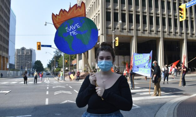 Friday For Future hosts sit-in at downtown Toronto intersection protest climate change