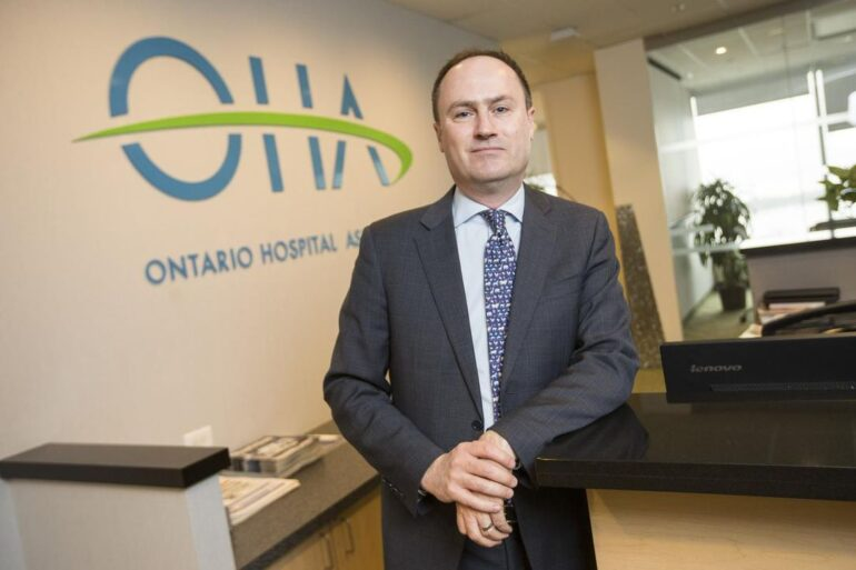 President and CEO of the Ontario Hospital Association Anthony Dale