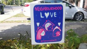 Toronto artists and South Etobicoke neighbours unite in response to hate mail
