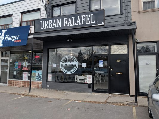 A photo outside of the restaurant Urban Falafel