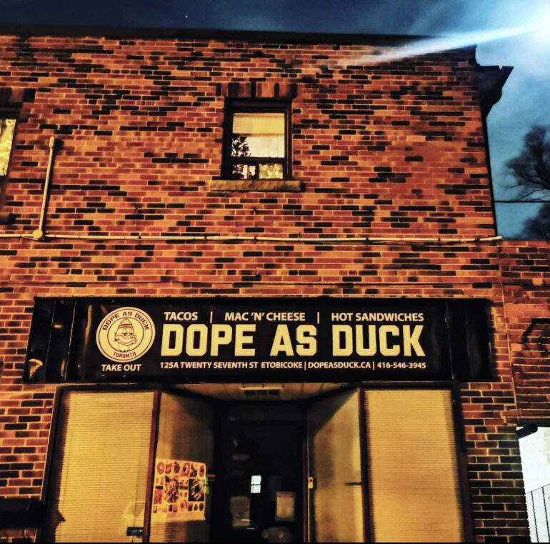 Raymond Costain founded his food truck business 'Dope as Duck' in 2018, and launched its takeout premises in November 2020.