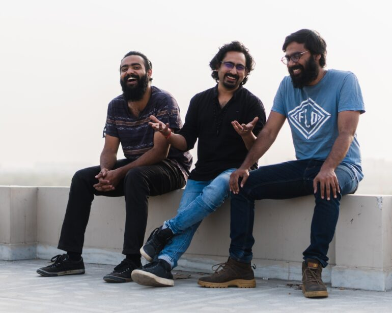 From left: Ramooz band members Srinath S. Kumar, Zeeshaan Nabi and Ayan Joe pose for the camera in New Delhi. (March 18, 2020)