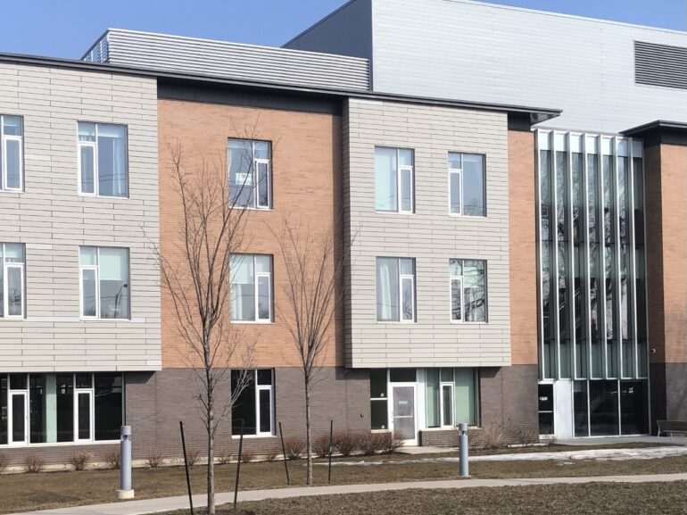 This is an image of the front of a long-term care facility.