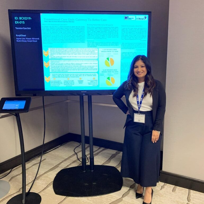 Shalini Desai, a dialysis nurse with Humber River Hospital, presents on translational care at the hospital. Desai is enthusiastic about nursing education and hails Humber's move a great step forward for future nurses across Ontario. Courtesy: Shalini Desai.