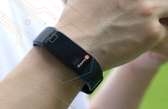 A wristwatch helps with contact tracing