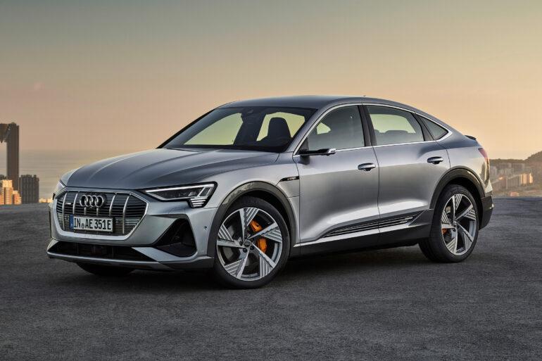 Silver Audi E-Tron