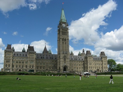 Parliament Hill in Ottawa during spring 2016. In-person hearings have been switched to virtual meetings during the COVID-19 pandemic, including the current session on bill C-10. Courtesy: Parks Canada.