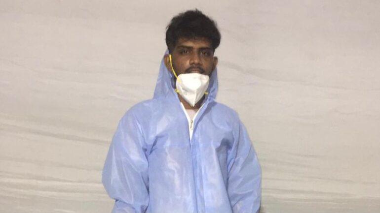 Smit Desai In PPE in COVID hospital