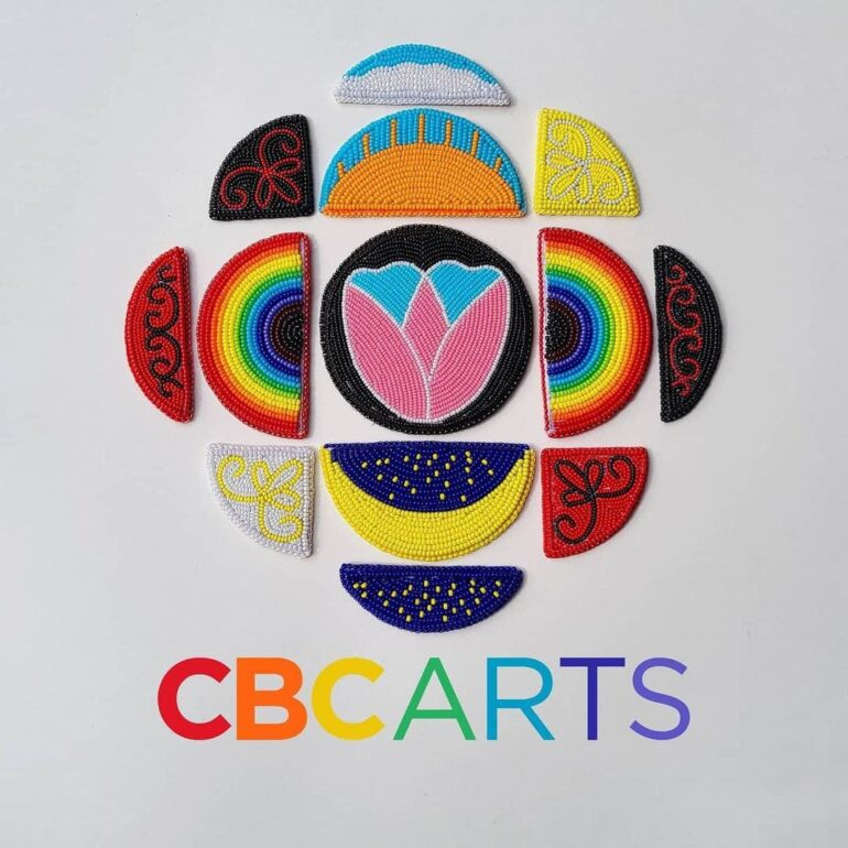 The new CBC Arts logo created by Mi'kmaw artist Sarah Hannon paying tribute to Indigenous and LGBTQ communities.
