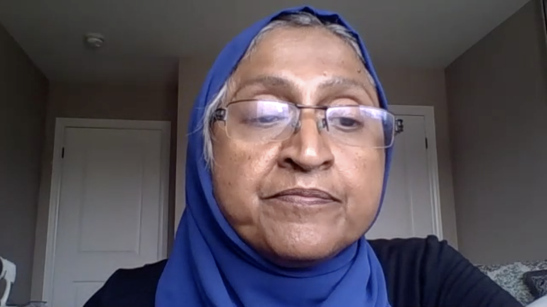 """Fauzia Mazhar, Executive Director at Coalition of Muslim Women said """" Word doesn&squot;t change, we need to see action""""."""