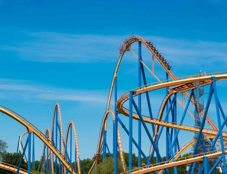 "Roller Coaster ""Behemoth"" at Canada&squot;s Wonderland"