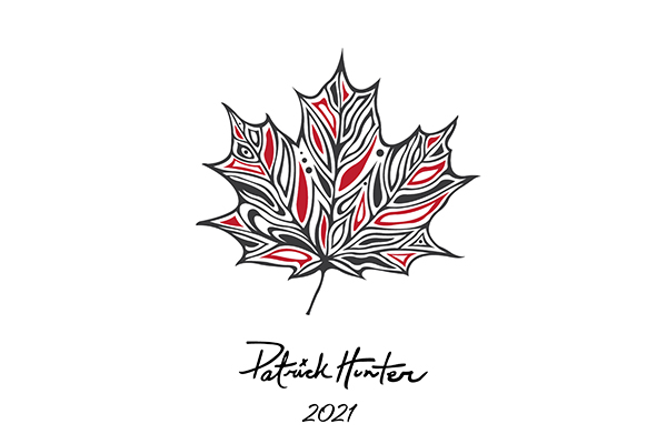 One of the designs for the limited edition canoe paddles by Patrick Hunter.