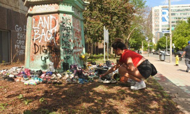 Ryerson U statue sparks anger, revulsion after children's remains found at B.C. residential school