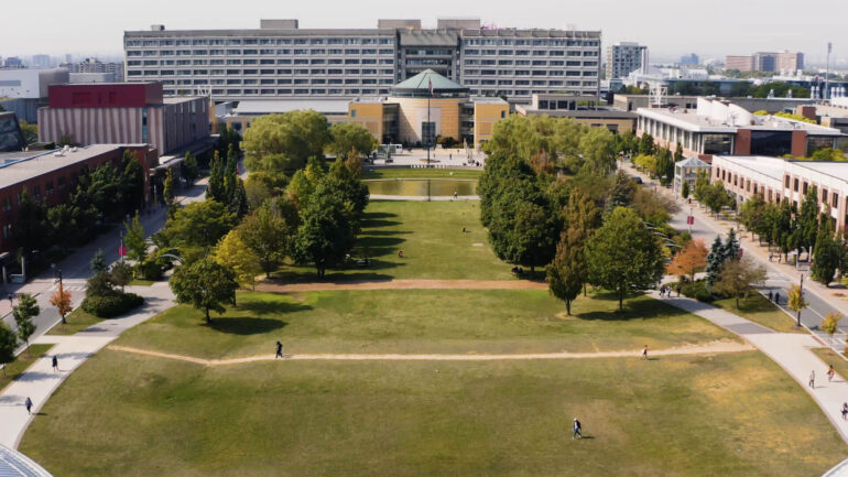 This is an image of an overview of York University Keele Campus located in Toronto.
