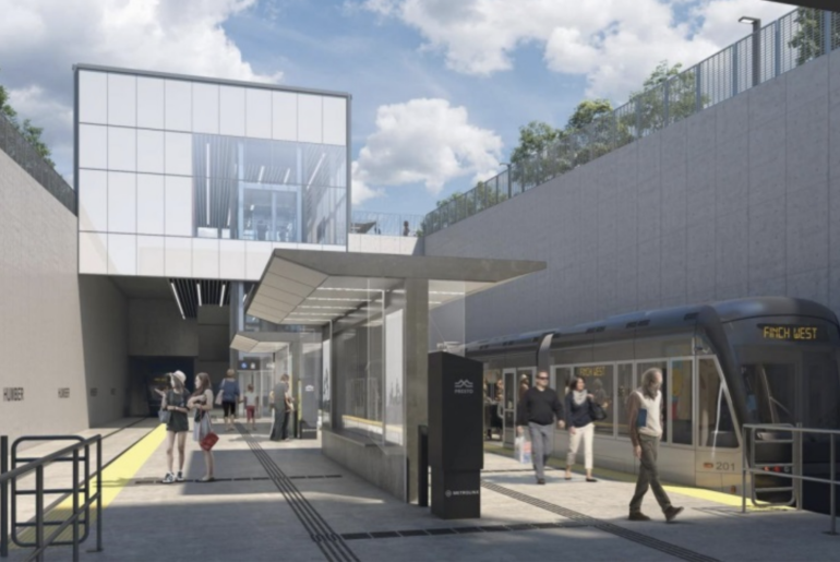This is Humber College's stop on the Finch West LRT line.
