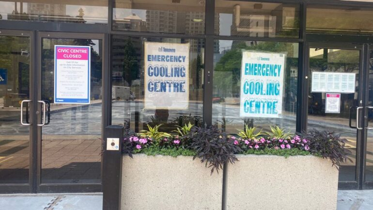 Operating Emergency Cooling Centre at North York providing air-condition and drink to vistors
